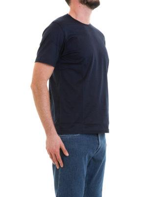CORNELIANI: t-shirt online - T-shirt blu navy in cotone
