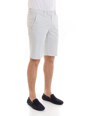 CORNELIANI: pantaloni shorts online - Bermuda in gabardina di cotone