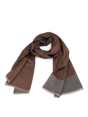Corneliani: scarves - Baroque patterned wool scarf