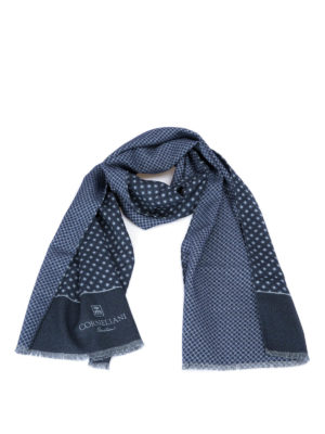 Corneliani: scarves - Geometric patterned wool scarf