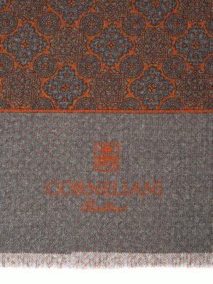 Corneliani: scarves online - Baroque patterned wool scarf