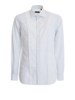 Corneliani: shirts - Classic striped cotton shirt