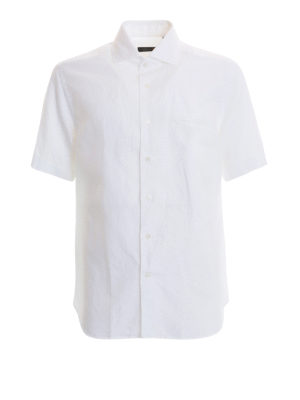CORNELIANI: camicie - Camicia bianca a maniche corte
