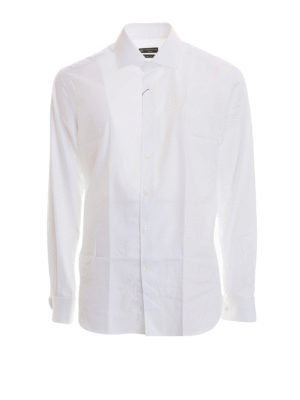 Corneliani: shirts - Double cuff cotton shirt