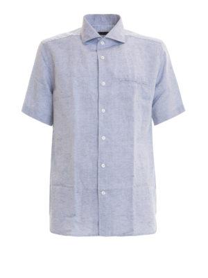 CORNELIANI: camicie - Camicia in misto lino cotone