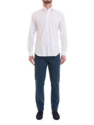 Corneliani: shirts online - Double cuff cotton shirt