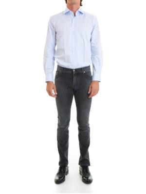 Corneliani: shirts online - Micro pattern cotton shirt