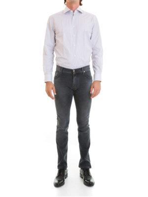 Corneliani: shirts online - Striped cotton classic shirt