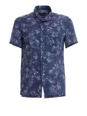 CORNELIANI: camicie - Camicia in lino stampato
