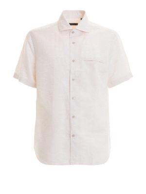 CORNELIANI: camicie - Camicia in cotone e lino
