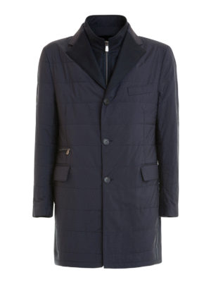 Corneliani: short coats - Wool lined quilted coat