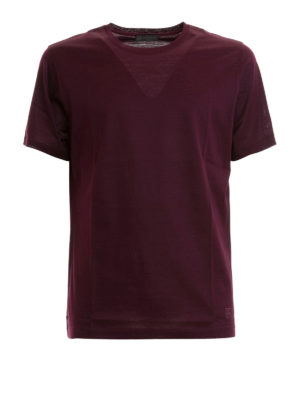 CORNELIANI: t-shirt - T-shirt bordeaux in cotone