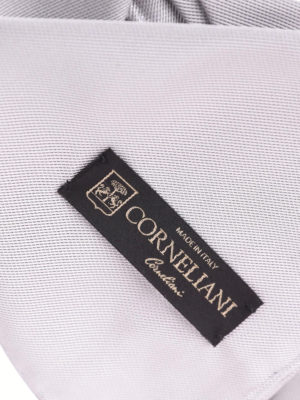 Corneliani: ties & bow ties online - Grey silk tie and pocket square