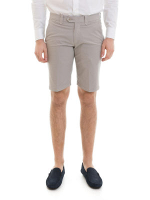 Corneliani: Trousers Shorts online - Stretch cotton tailored shorts