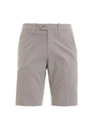 Corneliani: Trousers Shorts - Stretch cotton tailored shorts