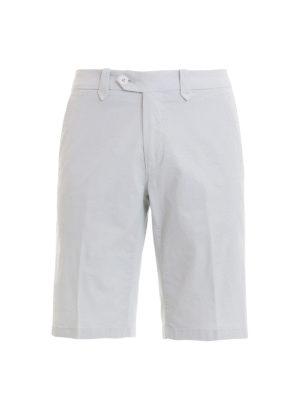 CORNELIANI: pantaloni shorts - Bermuda in gabardina di cotone