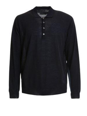 Corneliani: Turtlenecks & Polo necks - Fine knitted wool polo neck sweater