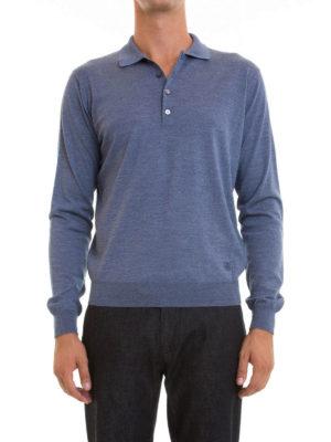 Corneliani: Turtlenecks & Polo necks online - Long sleeves wool polo shirt