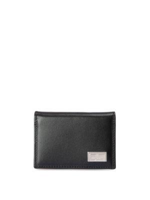 Corneliani: wallets & purses - Leather bifold card holder