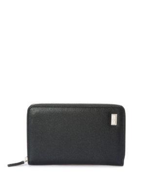 Corneliani: wallets & purses - Leather zip around wallet