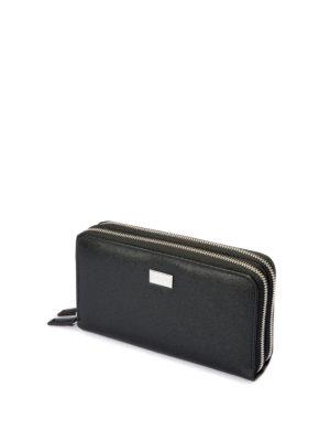 Corneliani: wallets & purses online - Double zip leather wallet