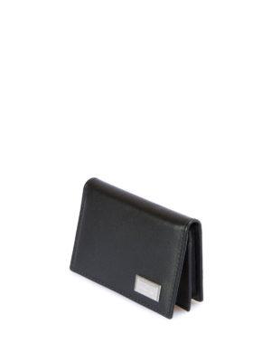Corneliani: wallets & purses online - Leather bifold card holder