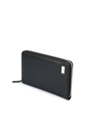 Corneliani: wallets & purses online - Leather zip around wallet