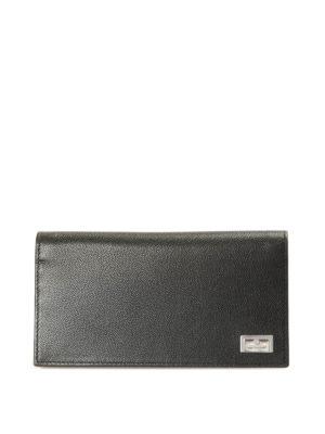 Corneliani: wallets & purses - Textured leather wallet