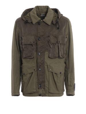 CP COMPANY: giacche casual - Caldo giaccone Goggle verde muschio