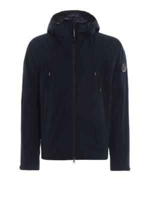 CP COMPANY: giacche casual - Giacca Lens Pro-Tek blu scuro con cappuccio