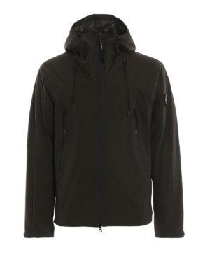 CP COMPANY: giacche casual - Giacca Lens Pro-Tek verde scuro con cappuccio