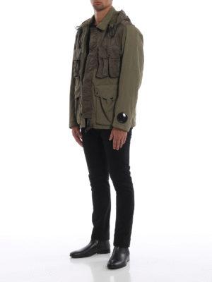 CP COMPANY: giacche casual online - Caldo giaccone Goggle verde muschio