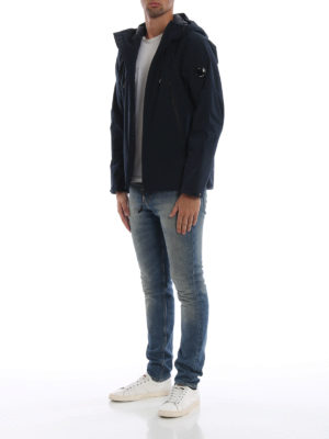 CP COMPANY: giacche casual online - Giacca Lens Pro-Tek blu scuro con cappuccio