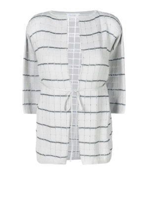 Cruciani: cardigans - Check cotton blend cardigan