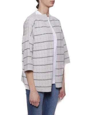 Cruciani: cardigans online - Check cotton blend cardigan