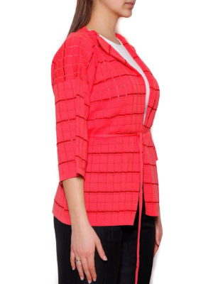 Cruciani: cardigans online - Check cotton blend cardigan