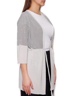 Cruciani: cardigans online - Striped lurex viscose cardigan