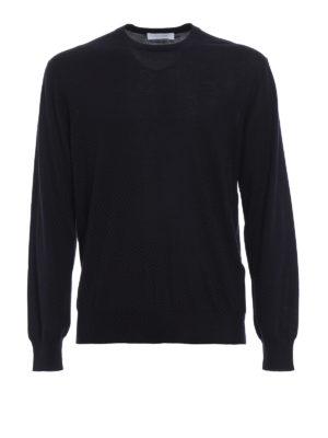 CRUCIANI: maglia collo rotondo - Pullover girocollo in cashmere e seta blu