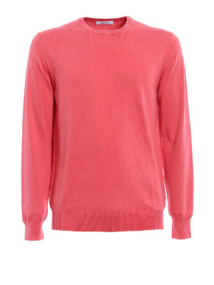 Cruciani: crew necks - Cayenne pink cotton sweater