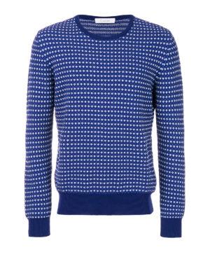 Cruciani: crew necks - Cotton jacquard sweater