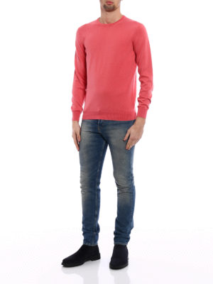 Cruciani: crew necks online - Cayenne pink cotton sweater