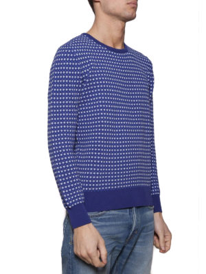Cruciani: crew necks online - Cotton jacquard sweater