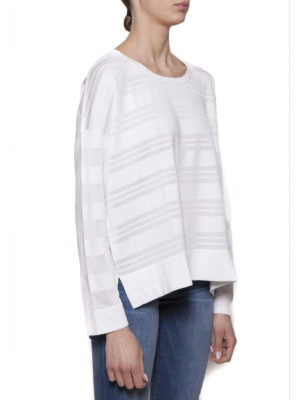 Cruciani: crew necks online - Striped cotton and viscose sweater
