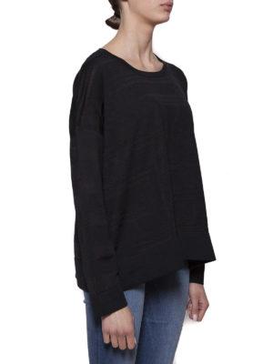 Cruciani: crew necks online - Striped viscose and cotton sweater