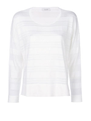 Cruciani: crew necks - Striped cotton and viscose sweater