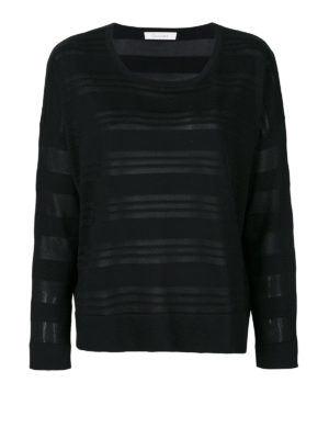 Cruciani: crew necks - Striped viscose and cotton sweater