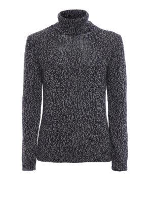 CRUCIANI: maglia a collo alto e polo - Dolcevita in lana bicolore