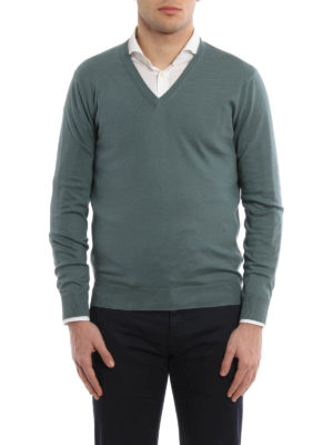 Cruciani: v necks online - Lightweight cotton V neck pullover