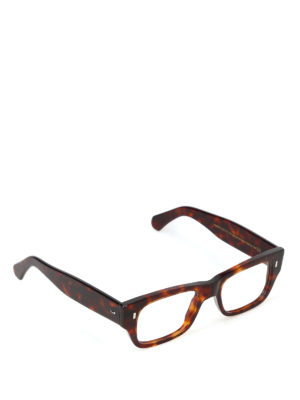 5a4cbe4a910f CUTLER AND GROSS  Occhiali - Occhiali con montatura tortoise schiacciata.  New season. Cutler And Gross. Flattened thick tortoise frame glasses