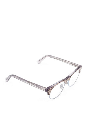 Cutler And Gross: glasses - Leopard print optical glasses